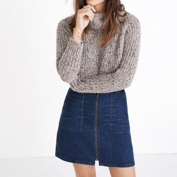 8bafb98b6b Madewell Dresses & Skirts - Madewell Zip Front Utility Denim Skirt